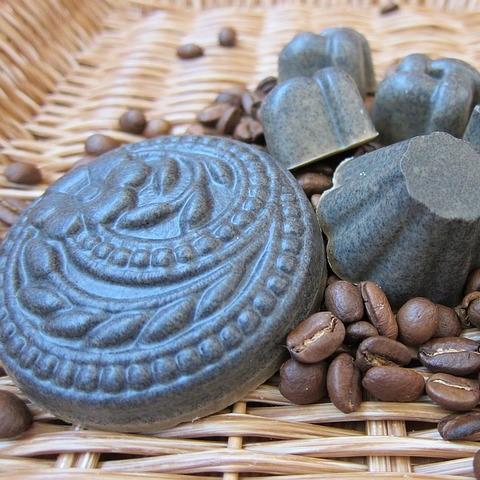 savon exfoliant au marc de café